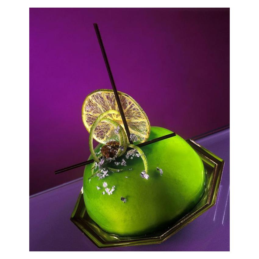 Glassa verde al lime lucida