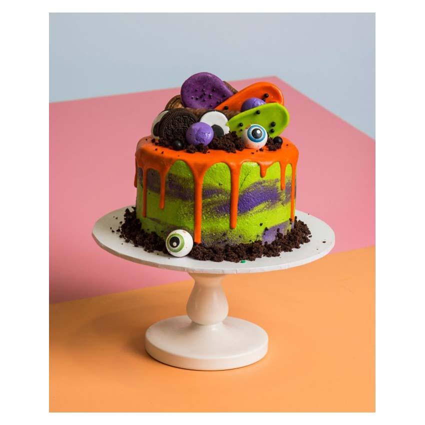 Drip cake arancione halloween