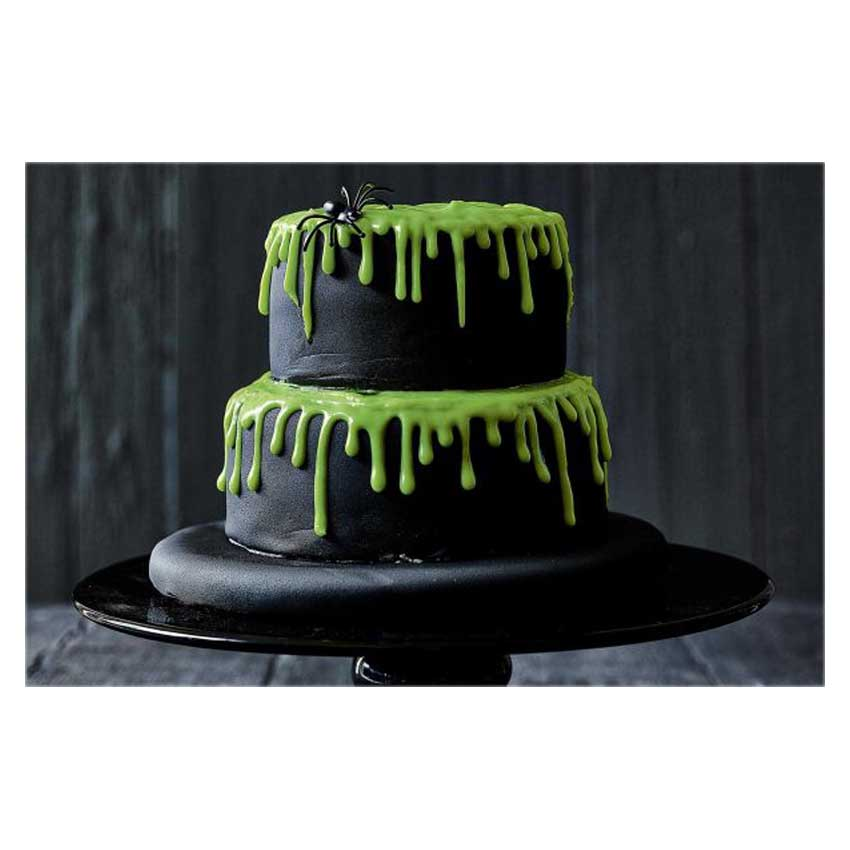 Drip cake verde halloween