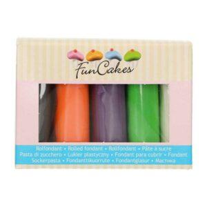 Kit pasta di zucchero Halloween 5 colori Funcakes