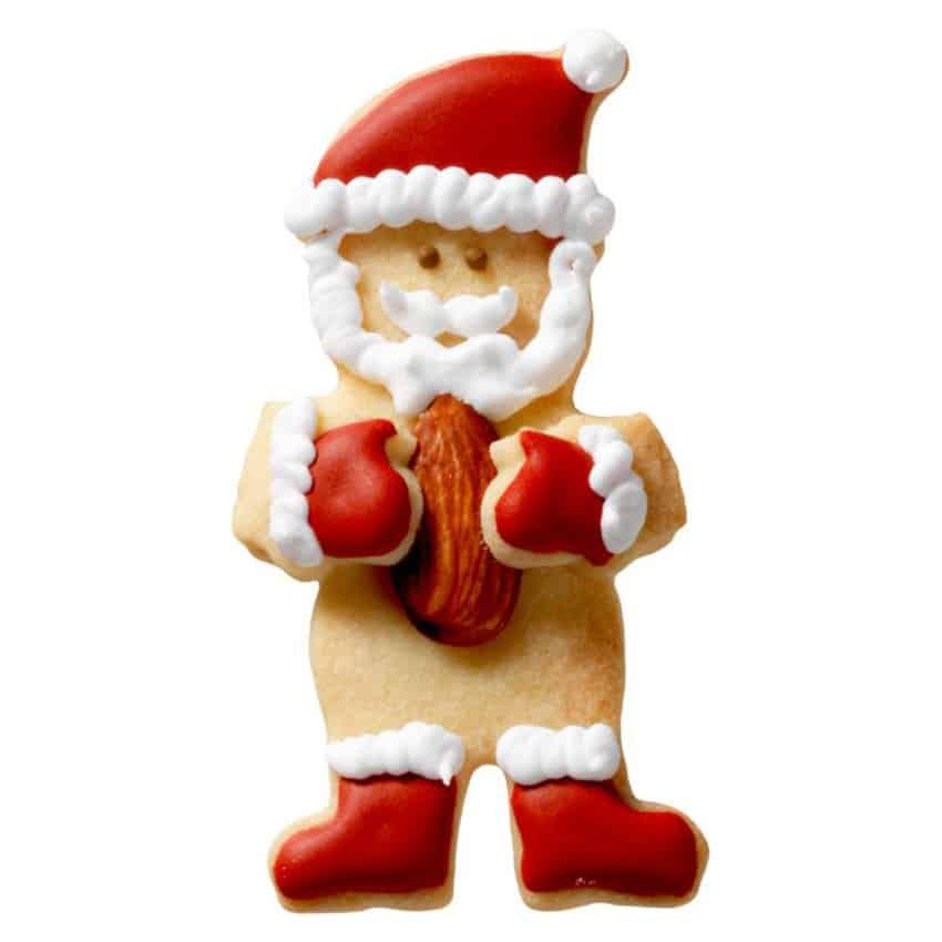 Stampino biscotti Babbo Natale coccola mandorla