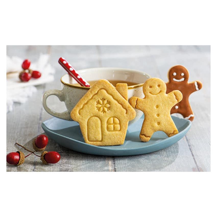 Biscotti gingerman e casetta