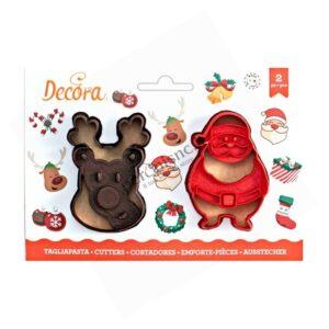Tagliapasta renna e Babbo Natale Decora