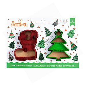 Tagliapasta scarpone e albero di Natale Decora