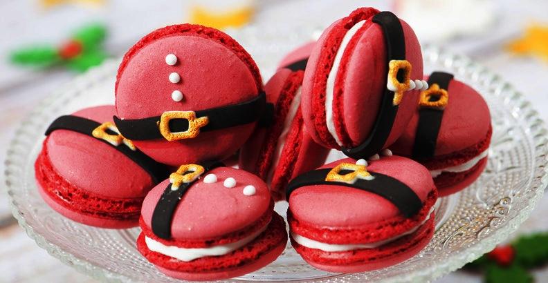 Macarons Babbo Natale