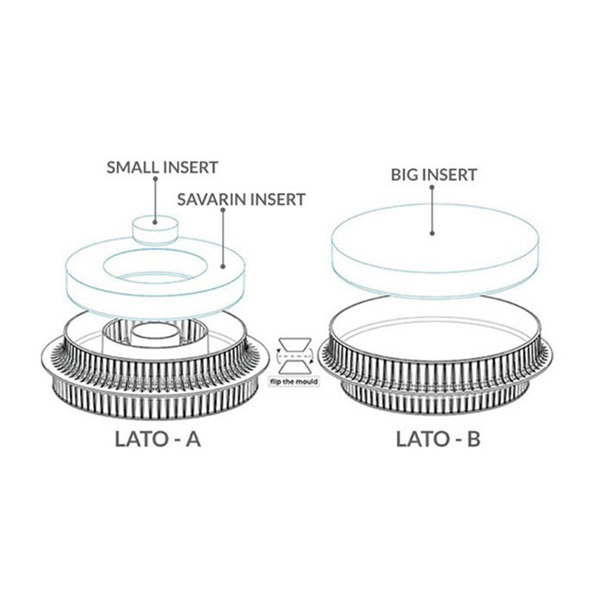 Stampo in silicone multi inserto round Silikomart