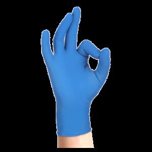 Guanti monouso nitrile Skin Blu 100 pz Bericah
