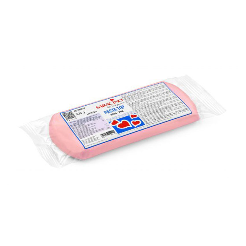 Pasta di Zucchero Top Rosa Saracino da copertura - 500 g