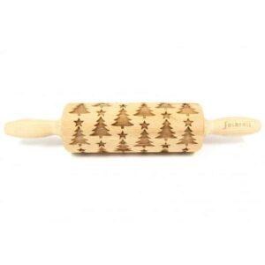 Mattarello Decorativo Albero di Natale in legno di faggio