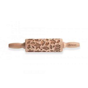 Mattarello Decorativo Foglie in legno di faggio