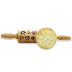 Mattarello Decorativo Ghiaccio in legno biscotti