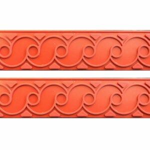 Set 2 Strisce Fregio in silicone per decori in Rilievo