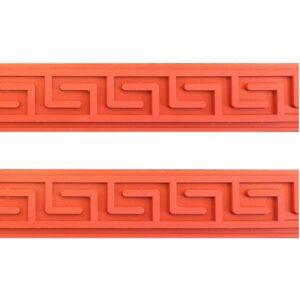 Set 2 Strisce Greca in silicone per decori in Rilievo