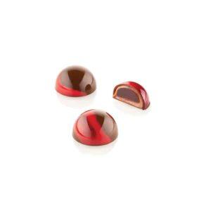 Kit Semisfera 01 Silikomart Stampo per cioccolatini in Tritan + Stampo in Silicone Chocado CH013