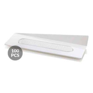 Set 100 Vassoi per monoporzioni Rettangolari 140x40 mm Bianchi Silikomart Professional
