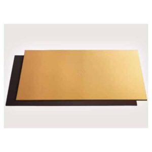 Vassoio sottotorta Rettangolare in cartoncino Oro e Nero