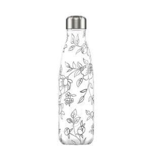 chillys bottles borraccia termica 500 ml line art flowers foralco
