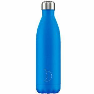 chillys bottles borraccia termica 750 ml neon blue foralco