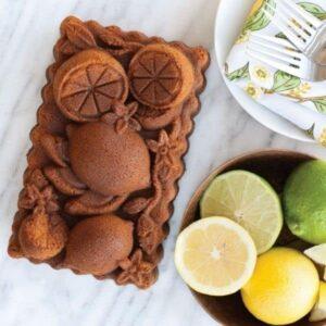 stampo antiaderente limoni citrus blossom nordic ware