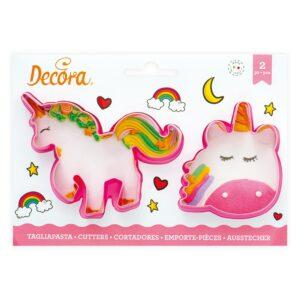 set 2 tagliapasta magic unicorns decora