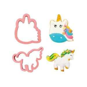 set 2 tagliapasta unicorno magic unicorns decora