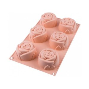 stampo in silicone rose sf077 silikomart